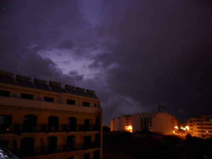 Thunder and lightning show at hotel