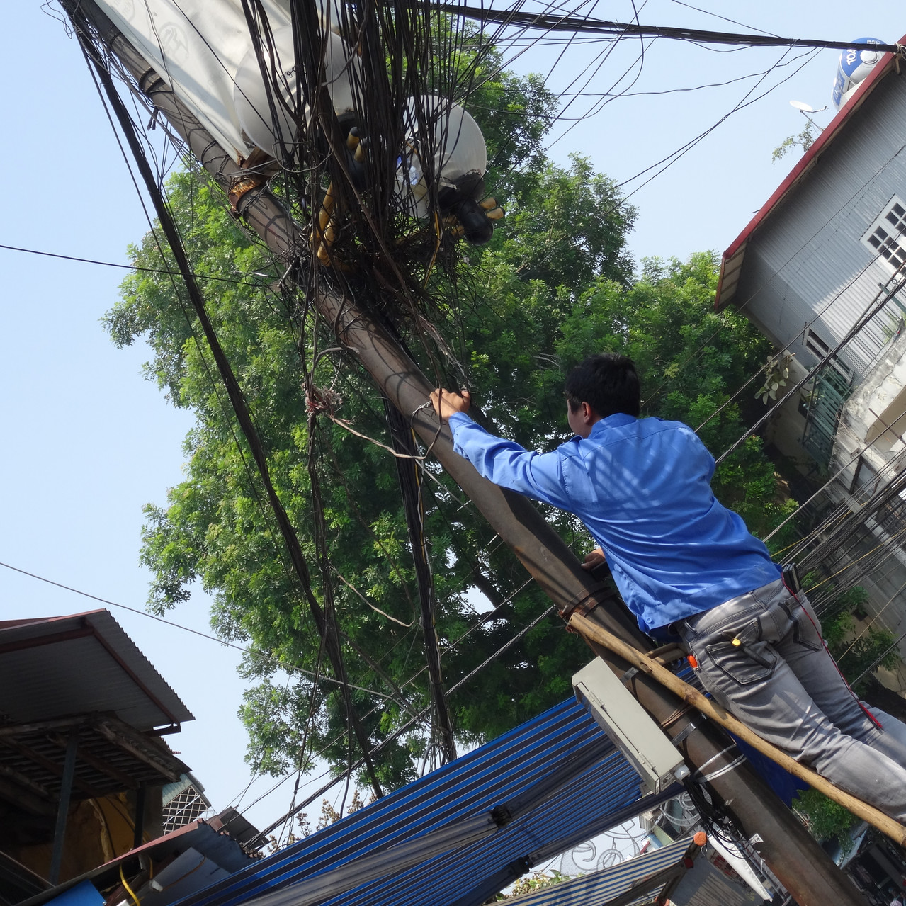Streets of Hanoi- re-wiring!?