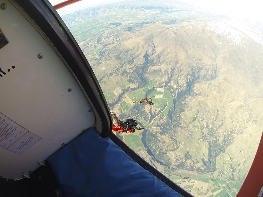 Off he goes- Skydive Wanaka