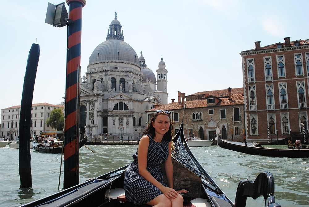 Venice, gondola on the Grand Canal