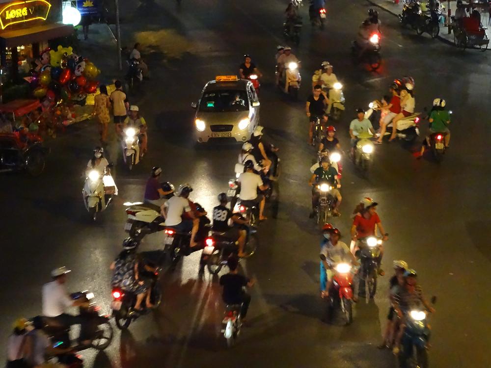 Crazy Hanoi traffic