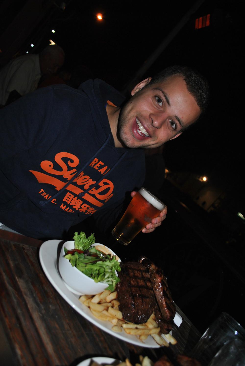 1kg steak!