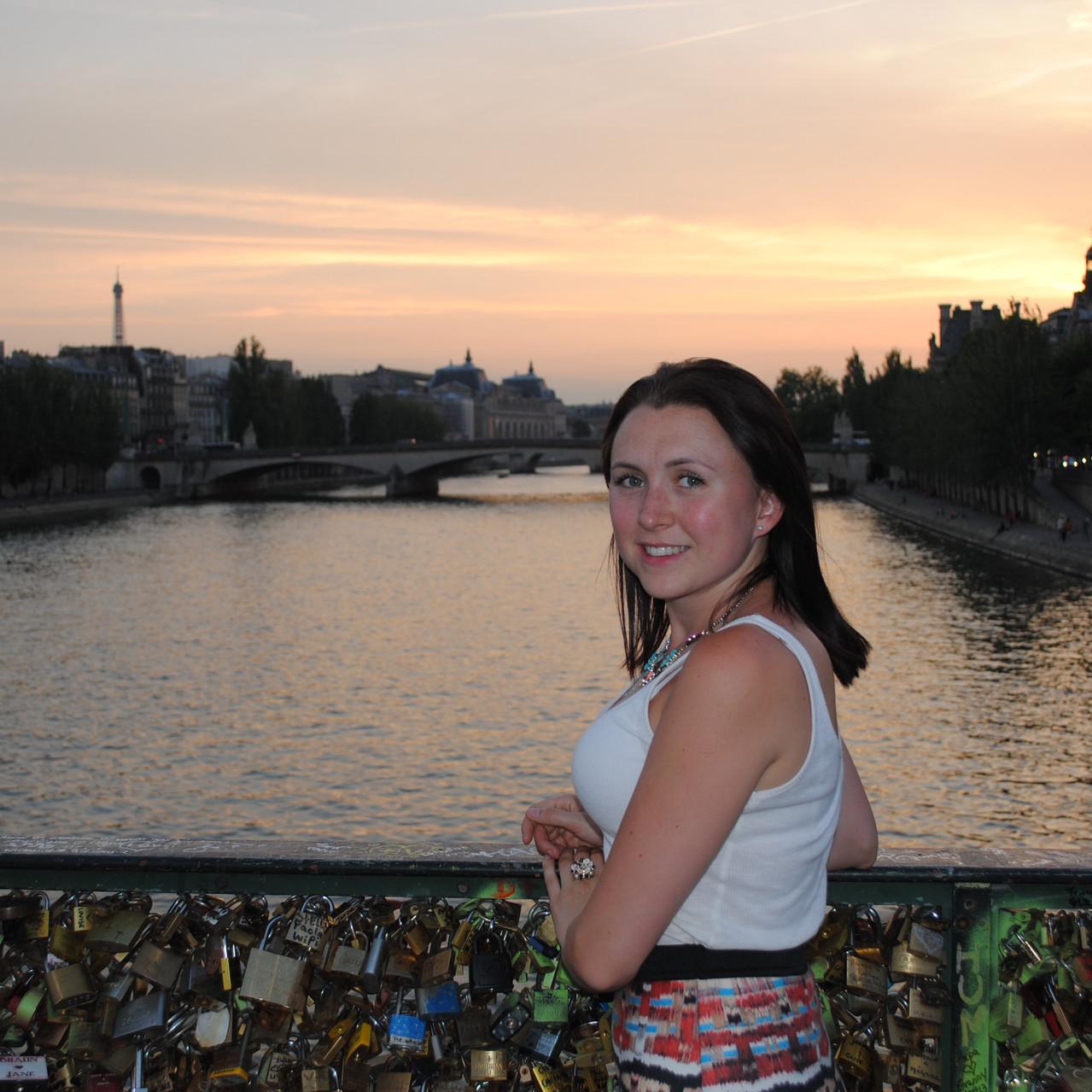 Seine and Love Lock Bridge