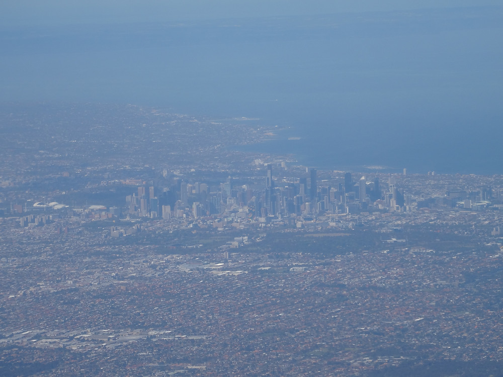 Views of Melbourne from the air
