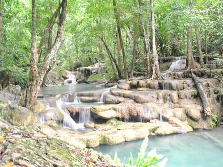 Erawan falls and arriving in Koh Tao