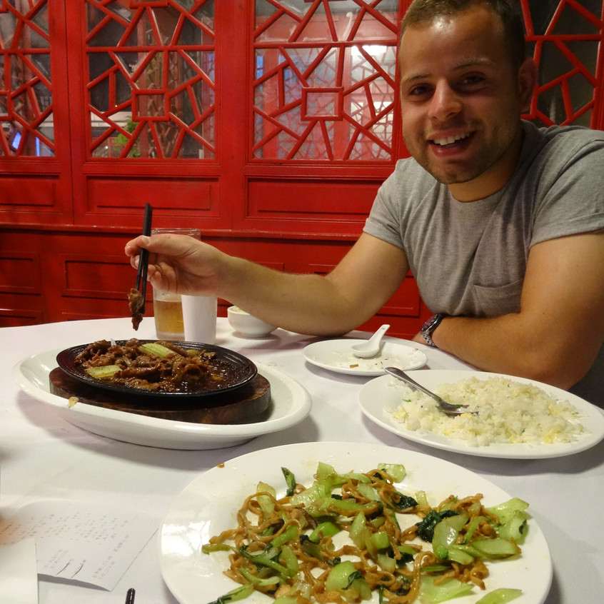 First meal in China