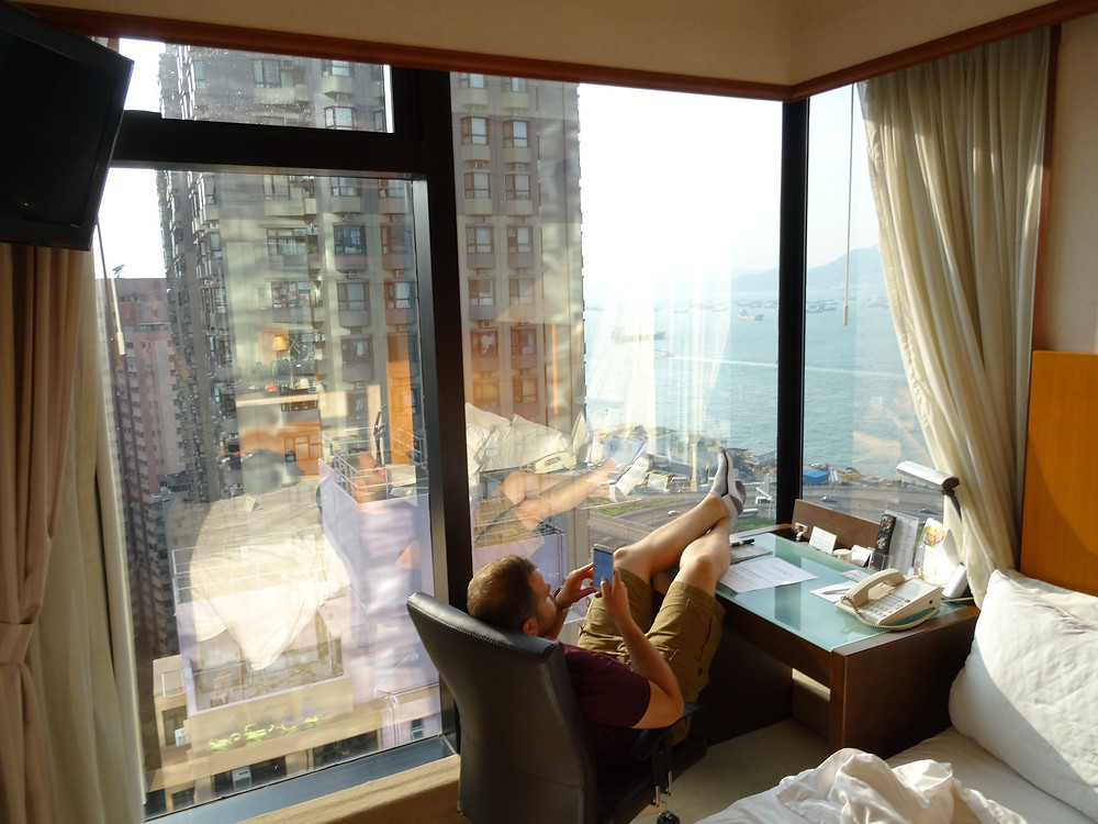 Amazing hotel room in Hong Kong