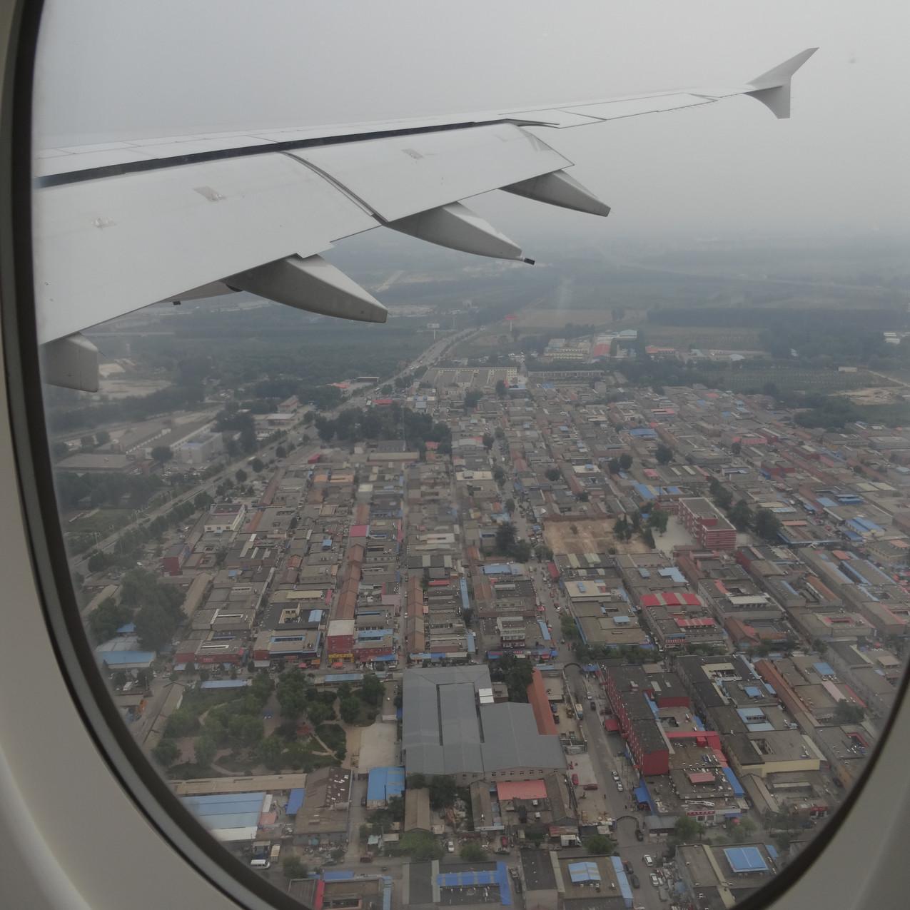 Flying into Beijing