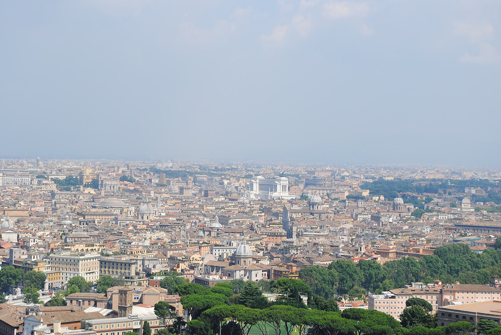 Rome from top of St Peter's Basilica