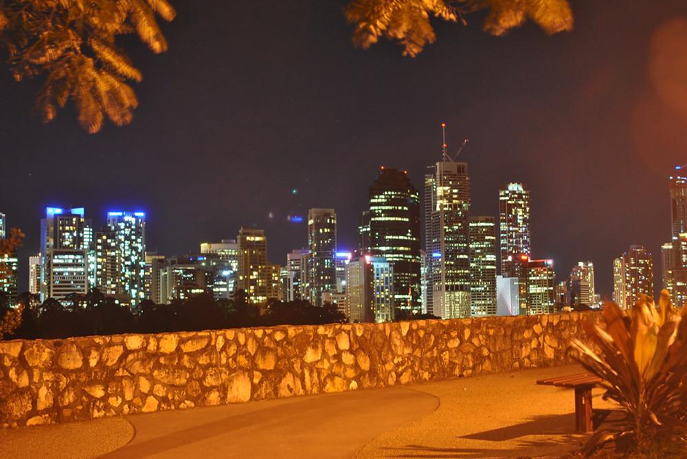 Cairns to Brisbane road trip. First view of Brisbane