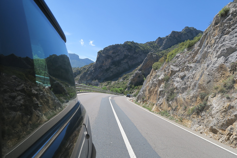 Driving into Andorra