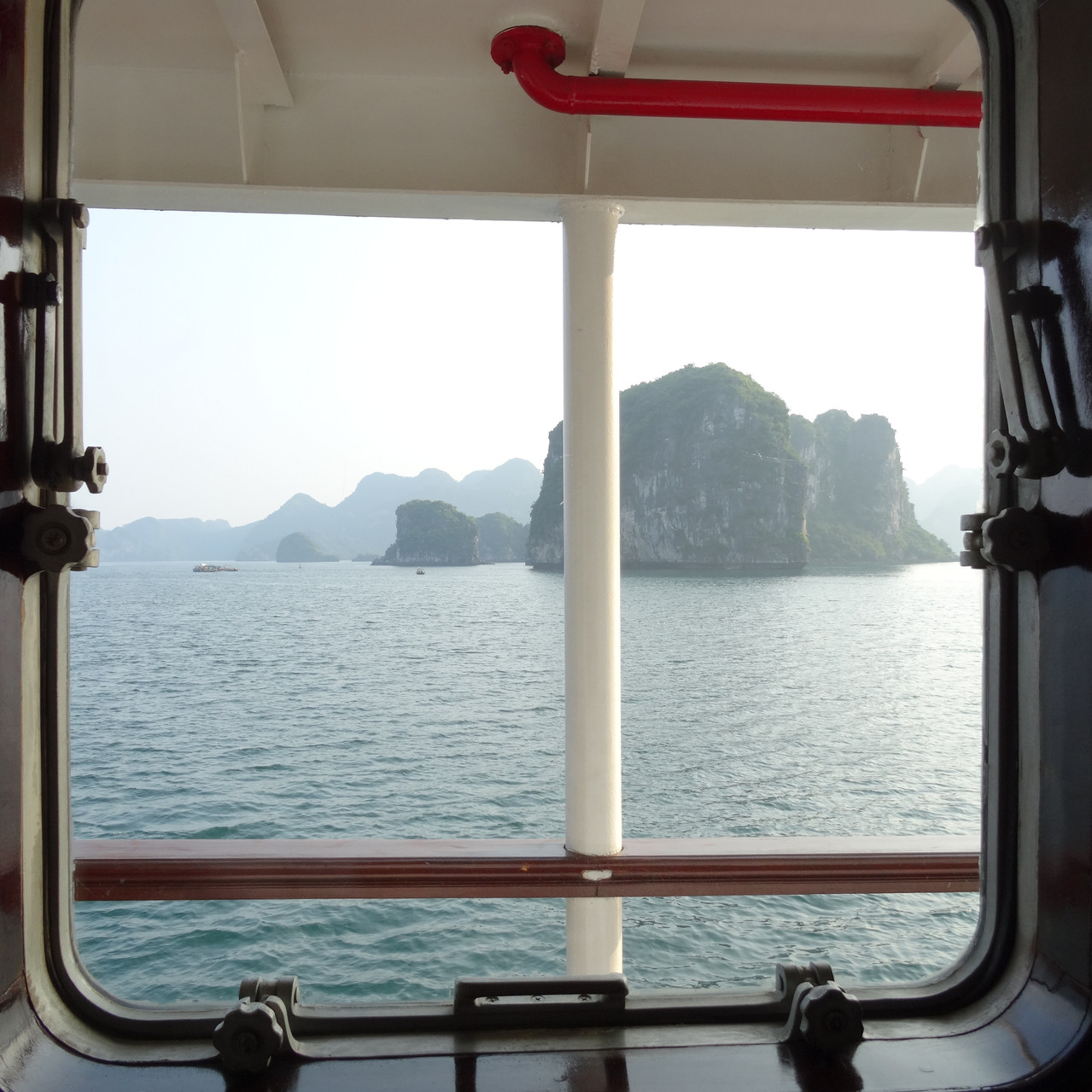 View from cabin, ruising Halong Bay,