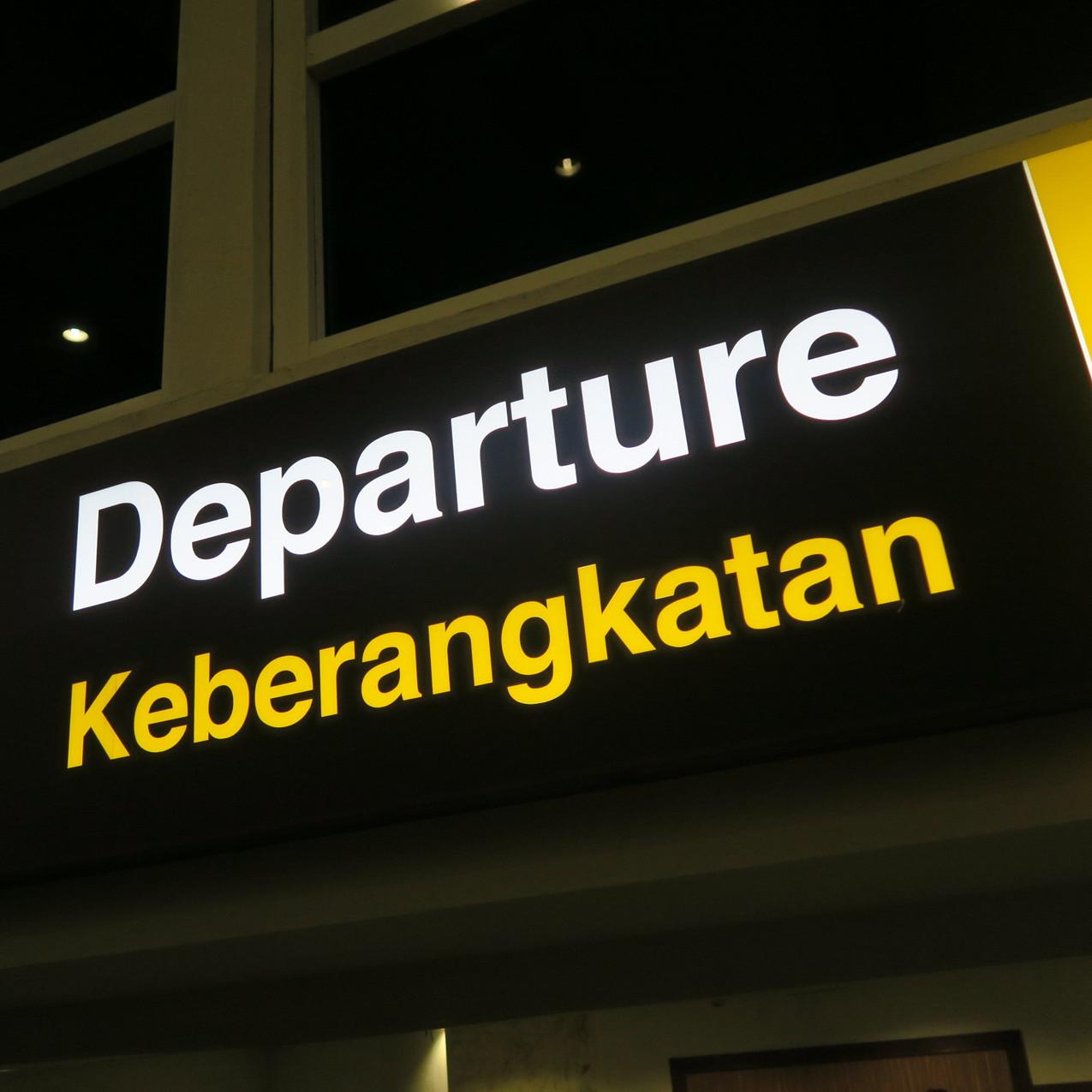 leaving Bali