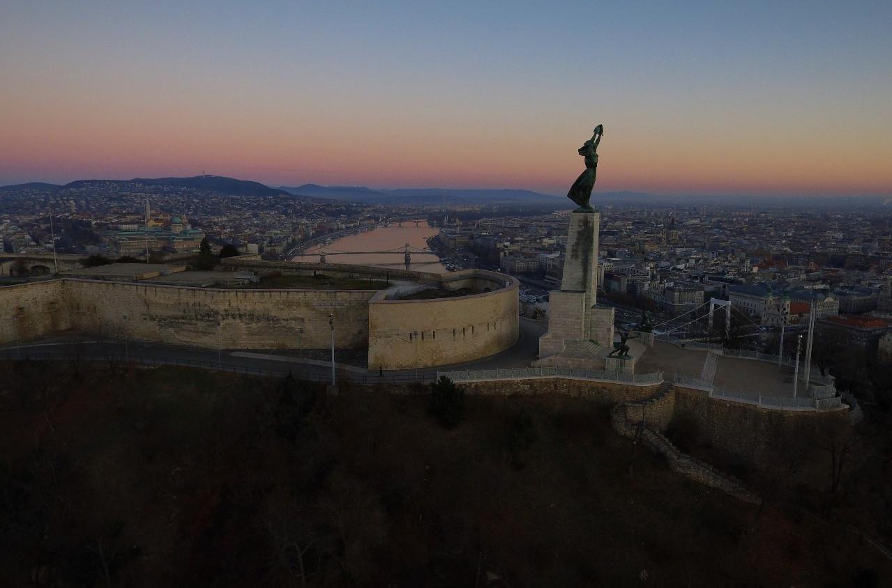 Views of Budapest from Gellert Hill