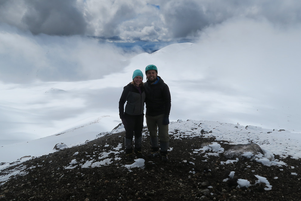 On the summit of Mt Tongariro