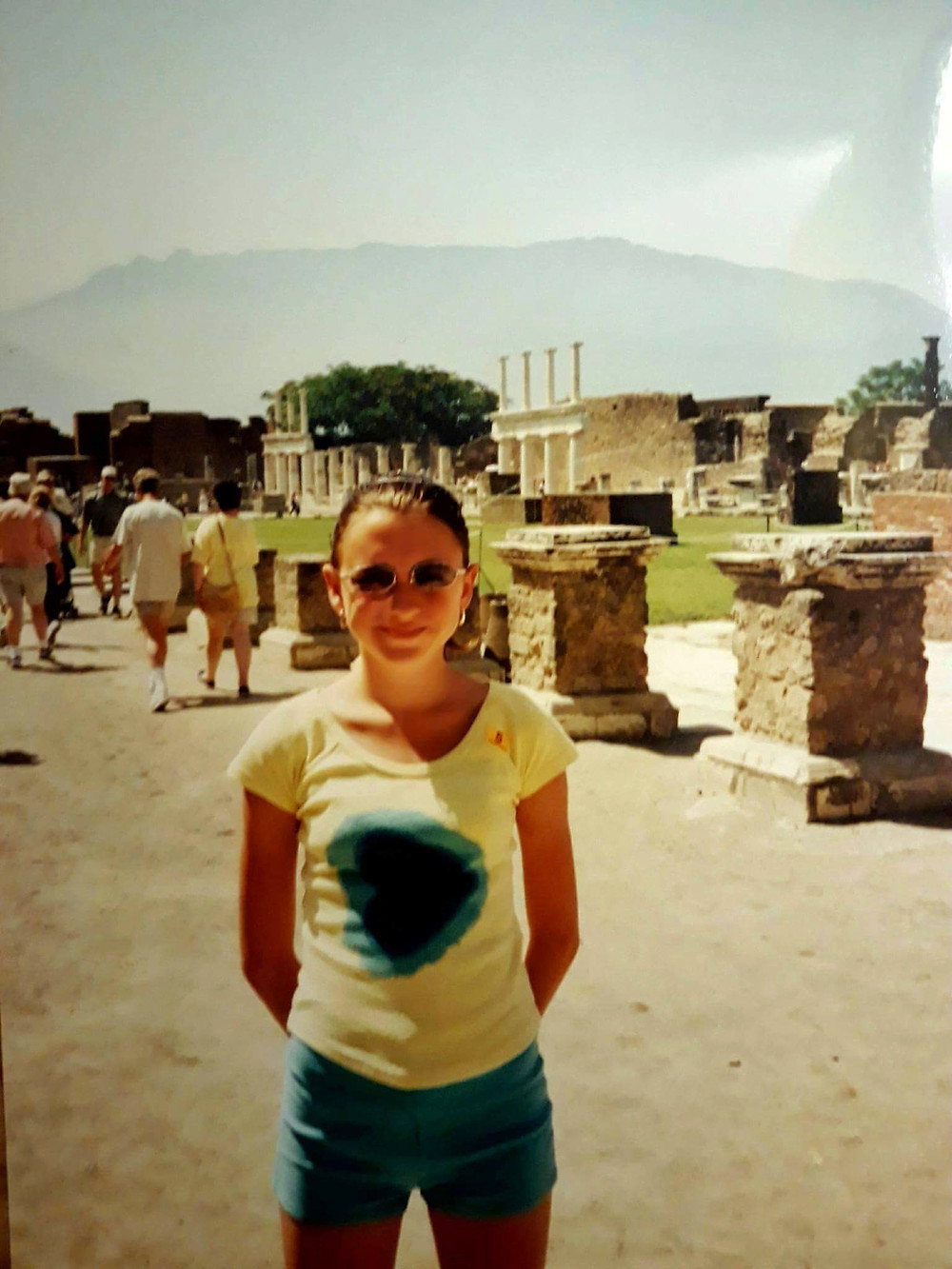 Me aged 12 visiting Pompeii