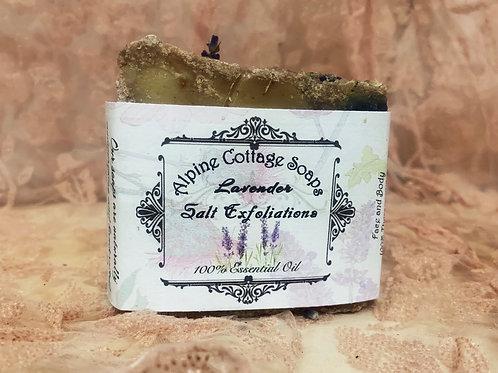 Lavender Salt Scrup Face and Body Soap