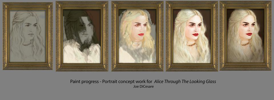 Concept work, White Queen portrait