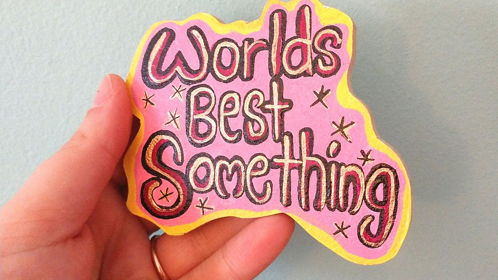 Pink/Yellow World's Best Magnet