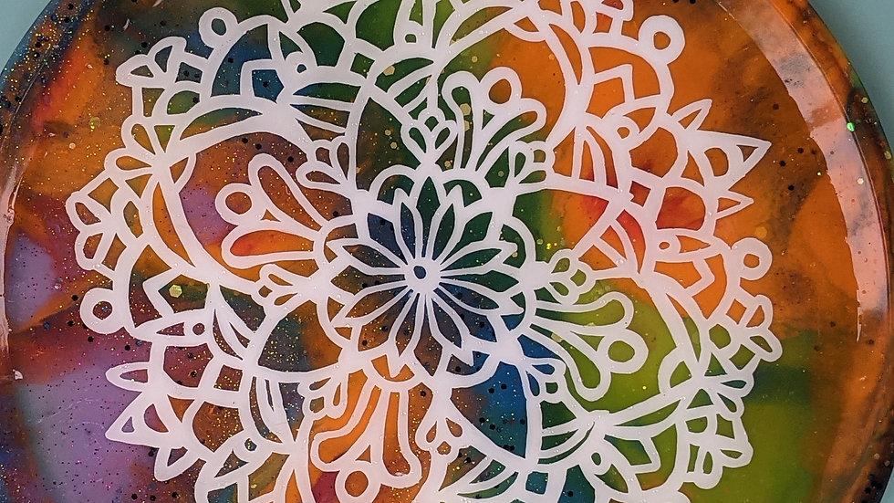 Rainbow Mandala Stash Tray