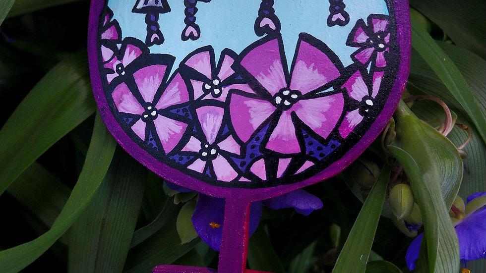 Purple Flowers Venus Sign Magnet