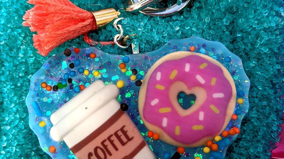 Big Blue Coffee & Donut Keychain
