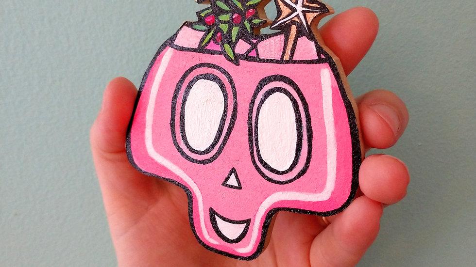 Holly Skull Drink Magnet
