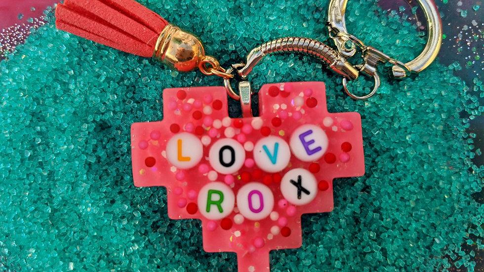 Love Rox Keychain
