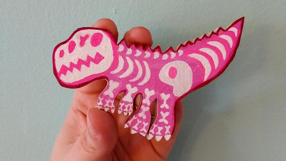 Hot Pink Dino Magnet