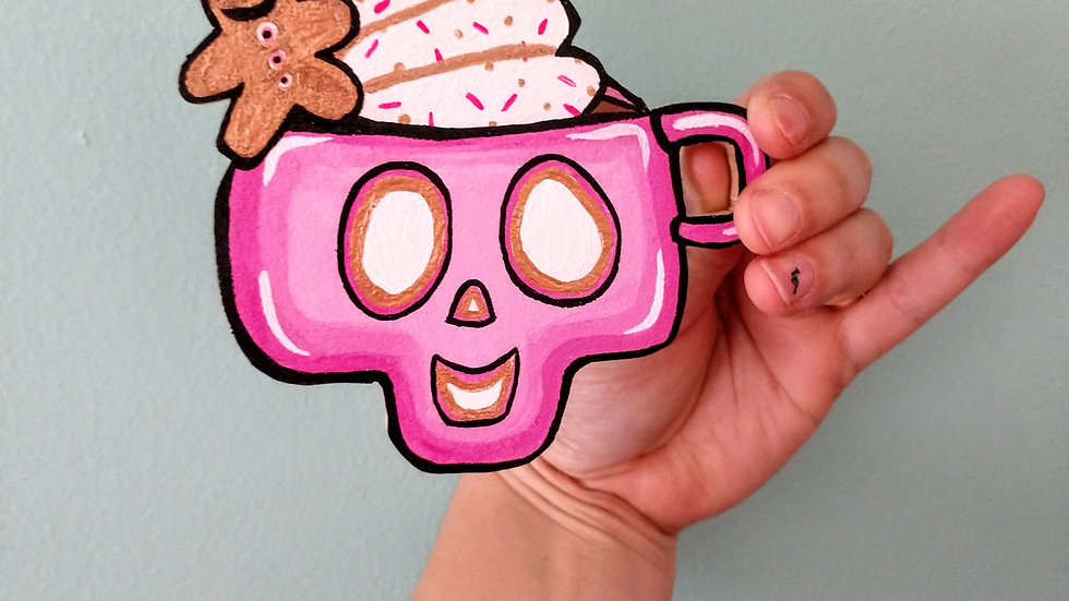 Hot Pink Holiday Drink Magnet