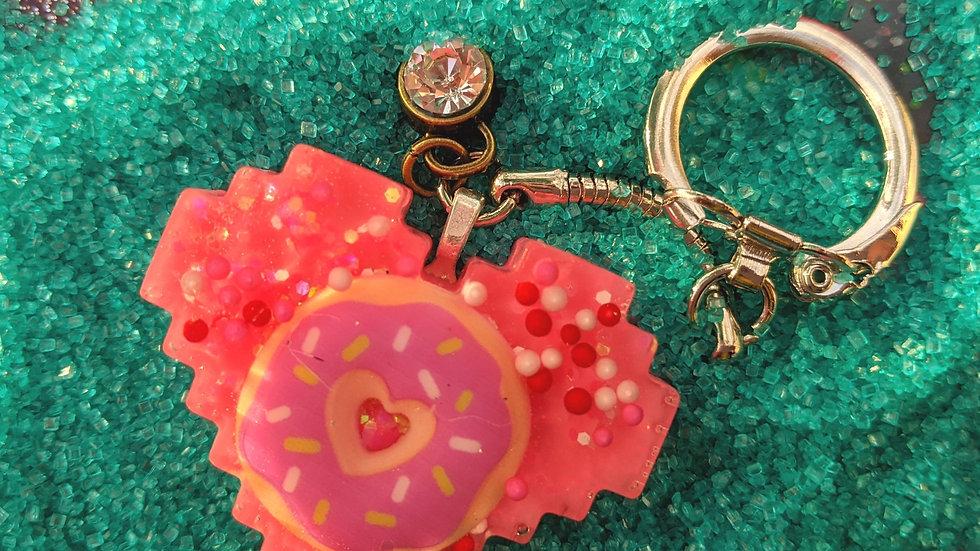 Donut Keychain w/ Gem