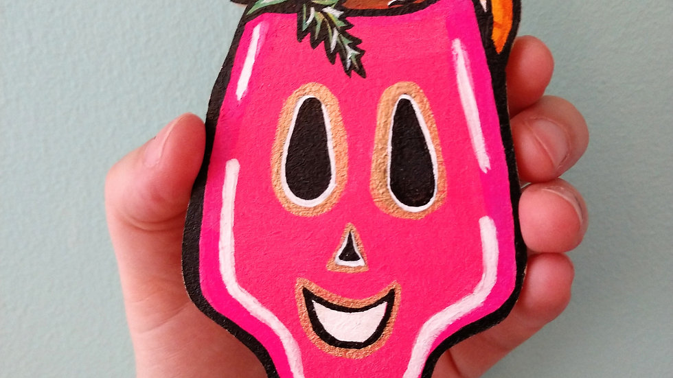 Fruit Cocktail Skull Magnet