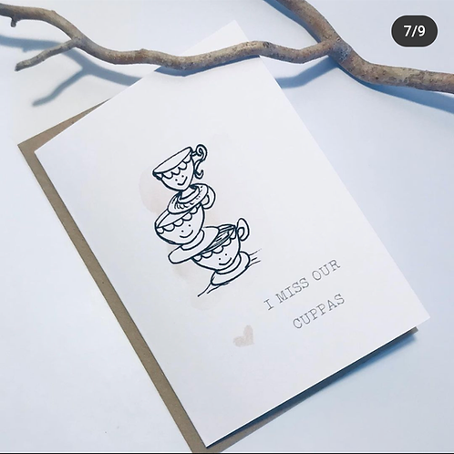 'I Miss Our Cuppas' Gift Card