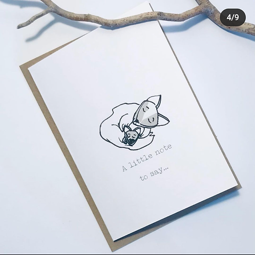 'Just A Note' Gift Card