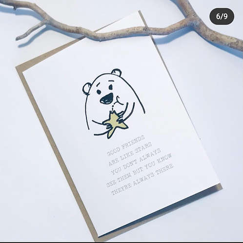'Friends are Stars' Gift Card