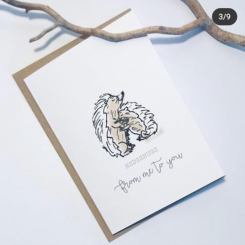 'Hedgehugs' Gift Card