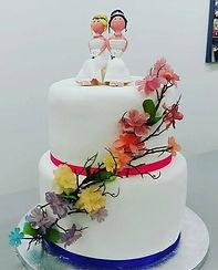 same sex wedding cake rainbow pride wedding cake