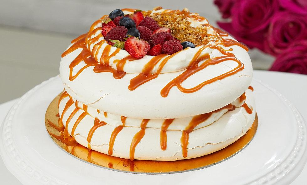 Caramel Meringue Cake