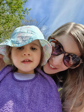 Rosalie and mum enjoying summer