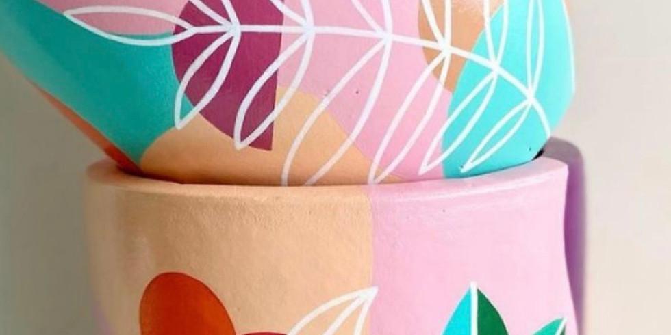 Botanical Pot Painting Workshop 9:30am - 12:30pm