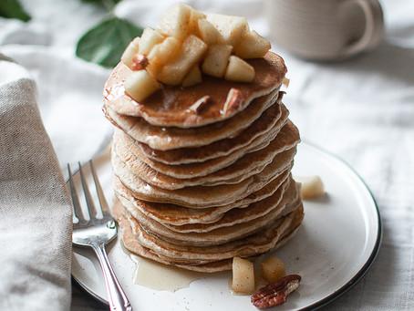 מתכון לפנקייק מפנק עם תפוחים וקרמל