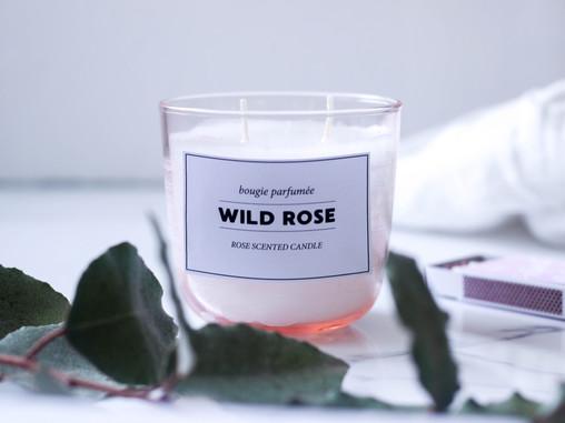 נר ורדים רומנטי ליום האהבה