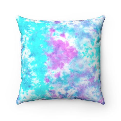 2 Dye 4- Pinks and Blues Square Pillow Case