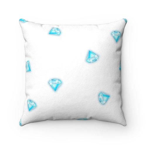 Diamond Faux Suede Square Pillow