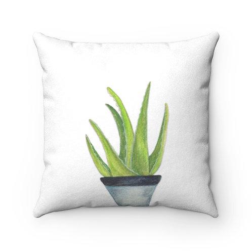 Aloe Faux Suede Square Pillow