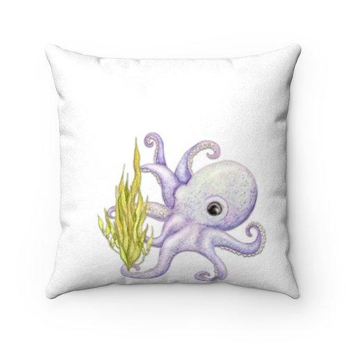 Octopus Faux Suede Square Pillow