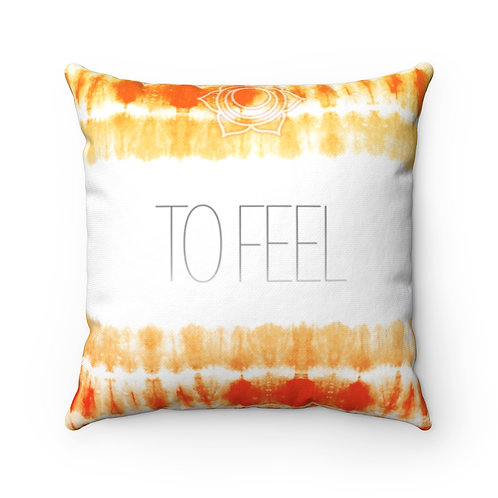 Chakra- To Feel Square Pillow Case