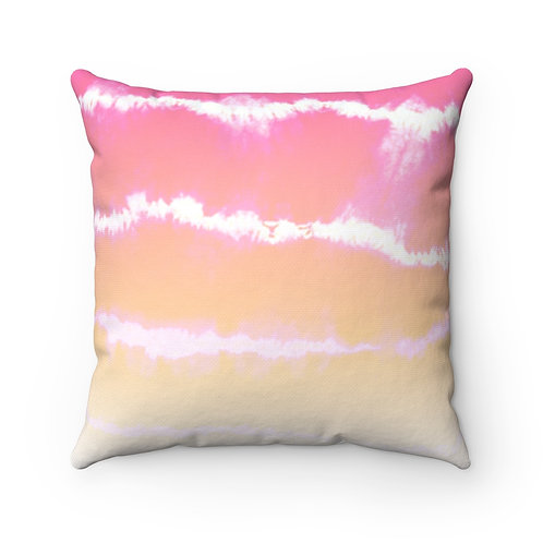 2 Dye 4- Sunset Lines Square Pillow Case