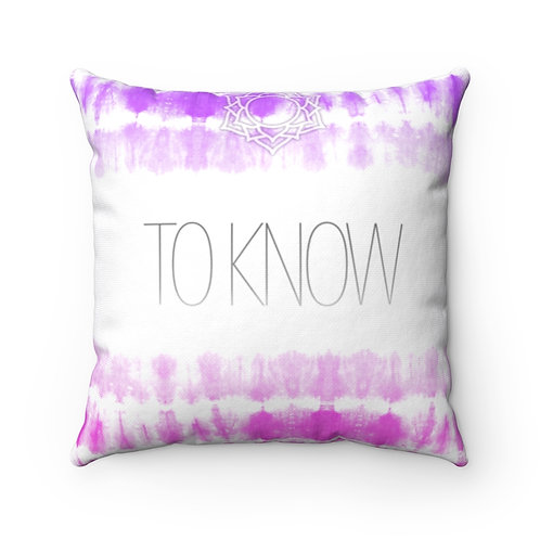 Chakra- To Know Square Pillow Case