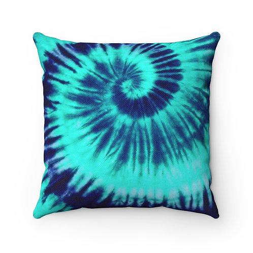 2 Dye 4- Minty Swirl Square Pillow Case